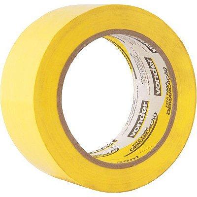 VONDER - Fita adesiva para demarcação 48 mm x 30 m amarela