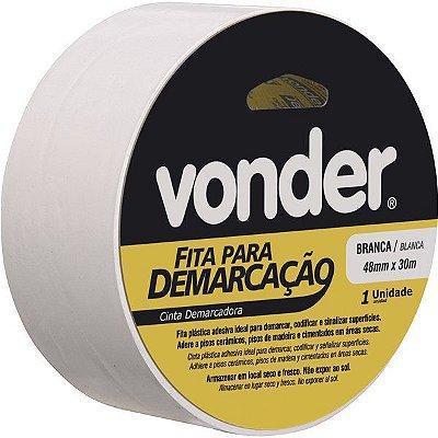 VONDER - Fita adesiva para demarcação 48 mm x 30 m branca