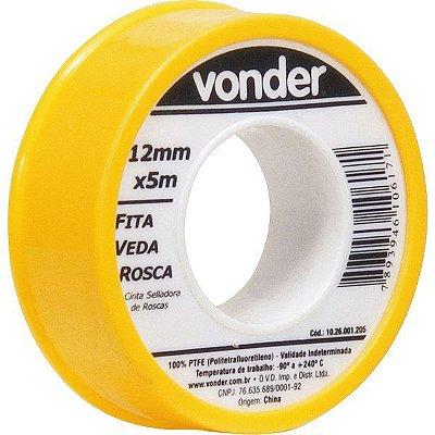 VONDER - Fita veda rosca 12 mm x 5 m