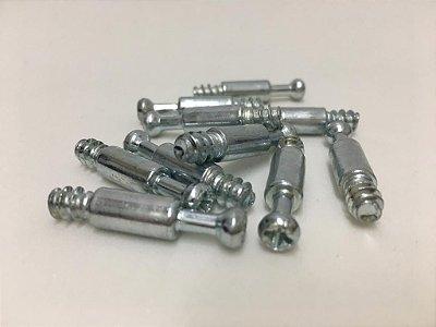 BIGFER - Minifix - Parafuso 09.02.088.411 = 010 und - Bigfix Fenda Combinada PHS 32 mm (Zinco Branco 761639021)