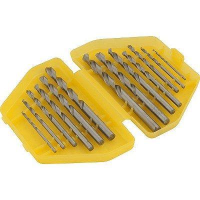 """VONDER - Jogo de brocas de aço rápido DIN 338, 1/16"""" a 1/4"""", com 13 peças"""