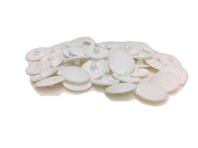BIGFER - Tampa Ø12 para Parafuso em Polímero = 050 und - Cabeça Chata (Branco) 10.04.023.005