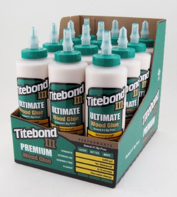 Titebond – Kit c/ 12 und Cola Ultimate III Wood Glue 473ml (1414)