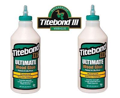 Titebond III – 2 X Cola Madeira 946 ml prova d