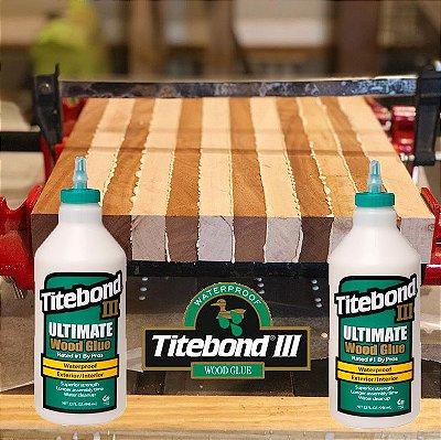 Titebond III – 2 X Cola p/ Tábua Madeira p/ Churrasco / corte Alimentos (prova d'agua não toxica)