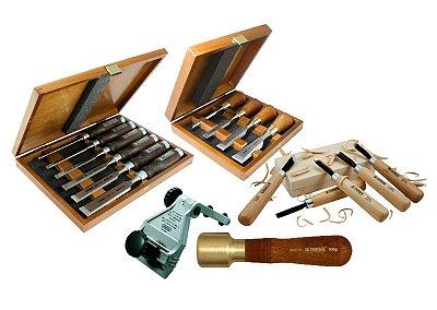 Narex & General Tools - Formões, Entalhes, Malhetes e Afiadores