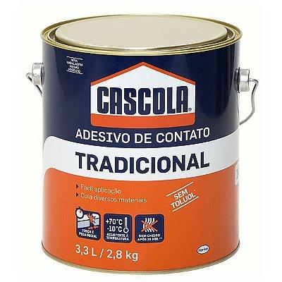 Henkel - Adesivo Cascola Tradicional sem Toluol - Cola de Contato Galão 2,8kg