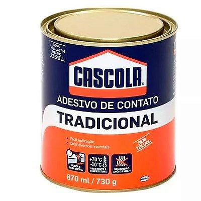 Henkel - Adesivo Cascola Tradicional sem Toluol - Cola de Contato Lata 730gr