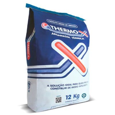 THERMO-X Argamassa Isolante Térmica e Acústica 12kg Reboco Interno e Externo (GRX)