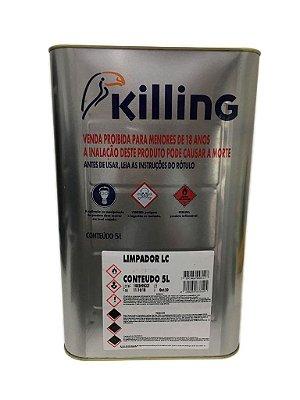 Killing - Limpador LC - 5 litros - Limpar Resíduos de Adesivos (cola)
