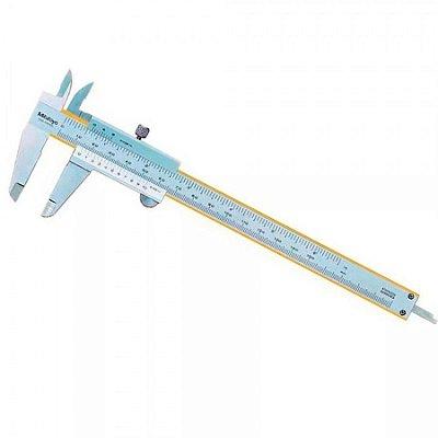 "MITUTOYO - Paquímetro Analógico Universal c/ Revestimento de Titânio 200mm/8"" – 0,05mm/ 1/128 – 530-114B-10"