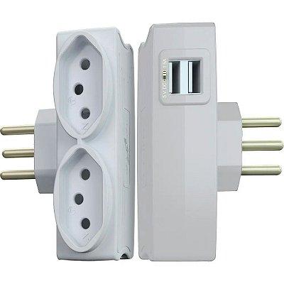 Legrand - Daneva - Multi USB - Carregador 2 USB + 2 Tomadas Branco