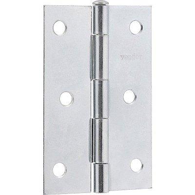 """VONDER - Dobradiça para porta em ferro zincado, 4"""""""