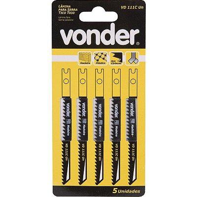 VONDER - Lâmina de serra tico-tico VD 101B C/5 (plásticos, madeiras) corte 75mm 10 Dentes