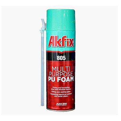 Akfix - 805 Espuma de Poliuretano Monocomponente Auto Expansiva, Antimofo, pode-se Pintar (350g-300ml)