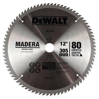 """Dewalt - Lamina Disco de Serra Esquadria 12"""" 305mm - 80 Dentes p/ Madeira"""