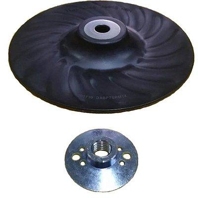 Dewalt -  Suporte Disco de Lixa P/ Lixadeira 4.5 + Flange M14 Fibra Semi Rígido - DABP4SRM14