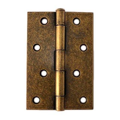 Gubler - Dobradiça Americana de Ferro Ouro Velho Pino Simples - 76 x 65mm