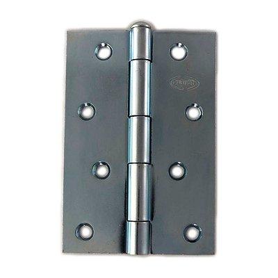 Gubler - Dobradiça Americana de Ferro Zincado Pino Simples - 76 x 48mm