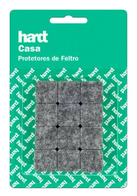 Hardt - Protetores de Feltro Quadrado 20x20 3mm 24 und R0004CZ