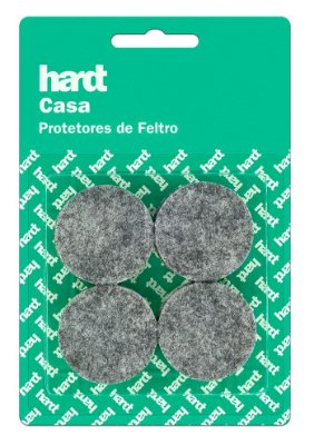 Hardt - Protetores de Feltro Redondo D38 3mm 08 und R0003CZ