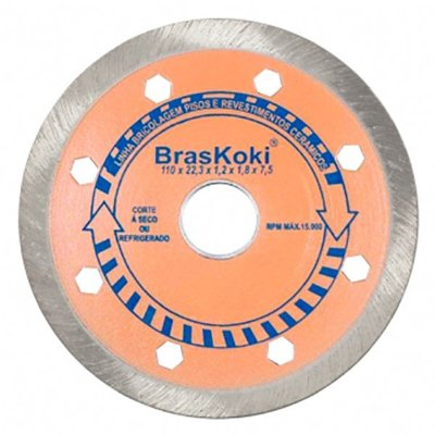 BrasKoki  - Disco diamantado 110mm contínuo l.bric. Pisos e Revestimentos Cerâmicos
