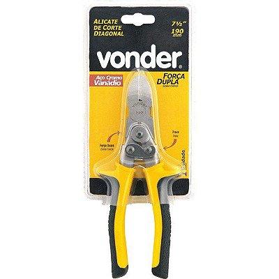 "VONDER - Alicate Corte Diagonal - 7.1/2"" -  Força Dupla"