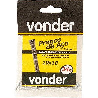 VONDER - Prego de Aço - Sem Cabeça - 10 x 10