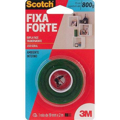 3M - Fita Dupla Face - Fixa Forte - 19mm x 2m - 10.46.001.902