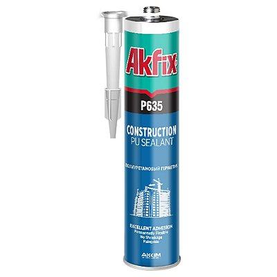 Akfix - P635 Cola PU Construção ( 310 ml ) - Cinza (P635/CI/310) Selante de Poliuretano (Veda calha e outras aplicações)