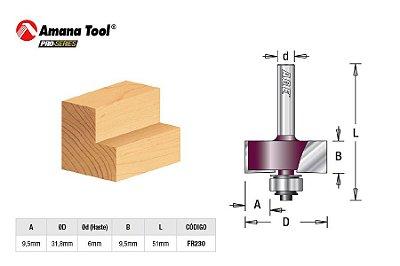 Amana Tool - AGE™ Pro-Series - FR230 - Para Rebaixo 31,8mm c/ Rolamento - Babbeting - Haste 6mm