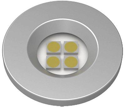 Artetílica Nuze - Luminária Pontual Circular D35 4 Super Led 3000K E321.A - 110/220V ALUMINIO