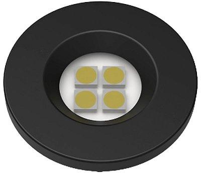 Artetílica Nuze - Luminária Pontual Circular D35 4 Super Led 5000K E521.P - 110/220V PRETO