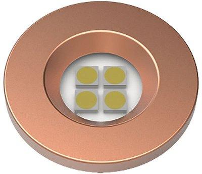 Artetílica Nuze - Luminária Pontual Circular D35 4 Super Led 5000K E521.RG - 110/220V RED GOLD