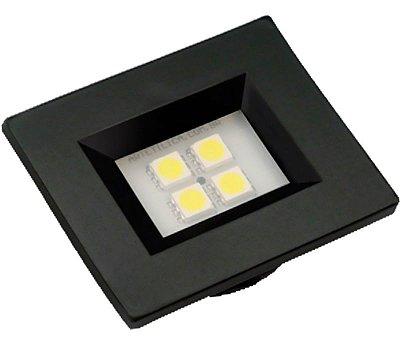 Artetílica Nuze - Luminária Pontual Retangular 35 - 4 Super Led 3000K 110/220V PRETA - E314.P