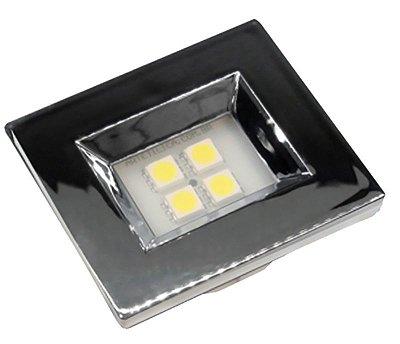 Artetílica Nuze - Luminária Pontual Retangular 35 - 4 Super Led 6000K 110/220V CROMADA - E514.C