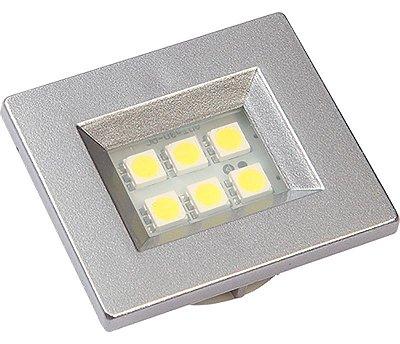 Artetílica Nuze - Luminária Pontual Retangular 35 - 6 Super Led 3000K 110/220V ALUMINIO - E310.A