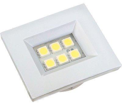 Artetílica Nuze - Luminária Pontual Retangular 35 - 6 Super Led 6000K 110/220V BRANCA - E510.B