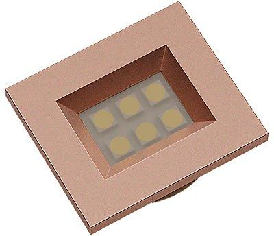Artetílica Nuze - Luminária Pontual Retangular 35 - 6 Super Led 6000K 110/220V RED GOLD - E510.RG