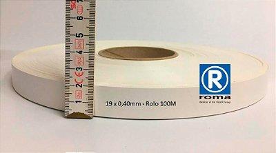 Roma Plastik - Fita de Bordo PVC Branco - TX - 19 x 0,40mm - Rolo 100M