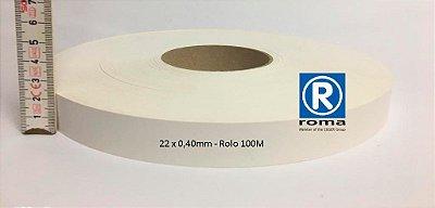 Roma Plastik - Fita de Bordo PVC Branco - TX -  22 x 0,40mm - Rolo 100M