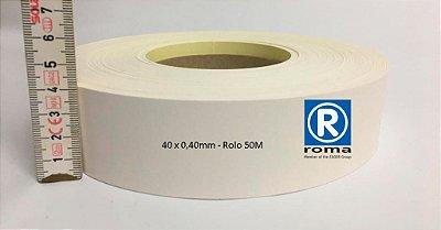 Roma Plastik - Fita de Bordo PVC Branco - TX -  40 x 0,40mm - Rolo 050M