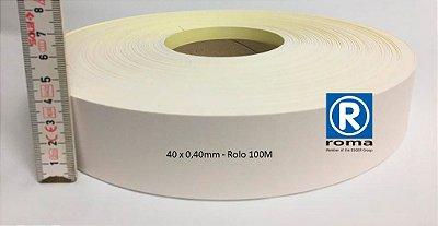Roma Plastik - Fita de Bordo PVC Branco - TX - 40 x 0,40mm - Rolo 100M