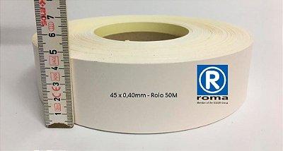 Roma Plastik - Fita de Bordo PVC Branco - TX -  45 x 0,40mm - Rolo 050M