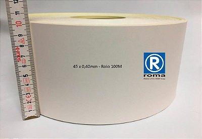 Roma Plastik - Fita de Bordo PVC Branco - TX - 100 x 0,40mm - Rolo 100M