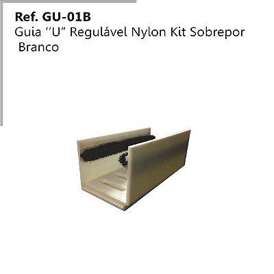 Perfil - Guia - GU-O1 BR - Tipo U Regulável em Nylon Branco