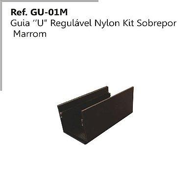 Perfil - Guia - GU-O1 M - Tipo U Regulável em Nylon Marron
