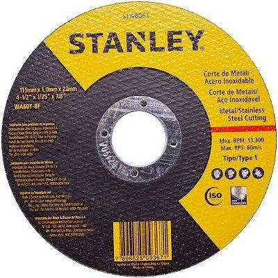 "Stanley - Disco Abrasivo de Corte Fino - Metal/Inox - 4 1/2"" x 1,0mm x 7/8"" - STA8061"