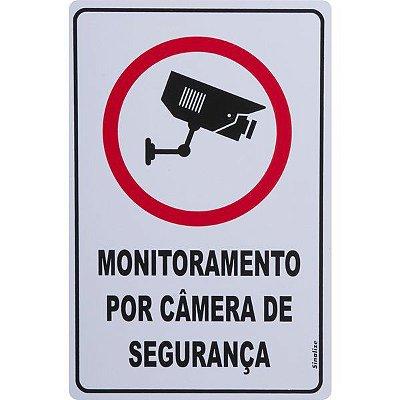 SINALIZE - Placa de Sinalização - Monitoramento por Câmeras - 20 x 30cm