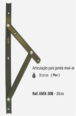 Perfil - Maxi-Ar - AMX-30B - Articulação p/ Janela 30cm - Bronze
